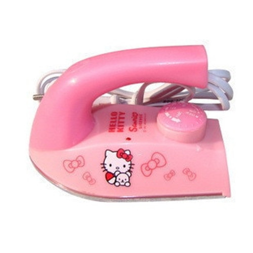 Upgraded Hello Kitty Mini Cartoon Cute Design Thermostat Electric Iron Thermostat Irons Mini Handheld Irons Pink Color Cheap