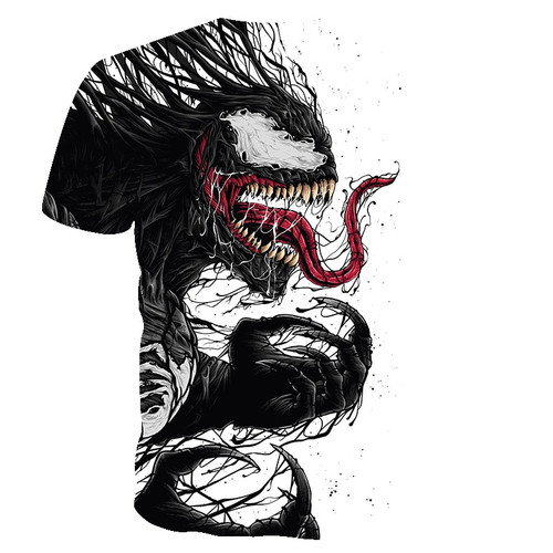 BIANYILONG 2019 t shirt men Newest Venom Marvel t-shirt 3D Printed T-shirts Men Women Casual Shirt Fitness T Shirt Tees Tops