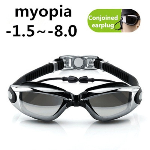 Sport Adult Professional myopia Swimming goggles men Women arena diopter Swim Eyewear anti fog swimming glasses WAVE -1.5~-8.0