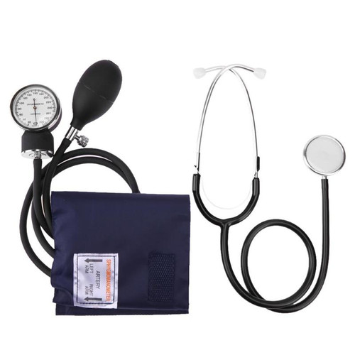 Manual Arm Sphygmomanometer Blood Pressure Gauge with Stethoscope Monitor Device Health Monitors Health CareTool