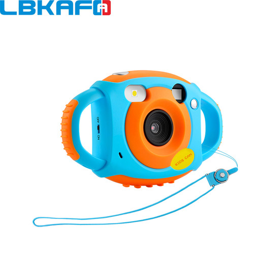LBKAFA 5MP HD Mini Kids Camera Portable Cute Kid Neck Children Camera Photography Support Video Recording 32GB SD Card