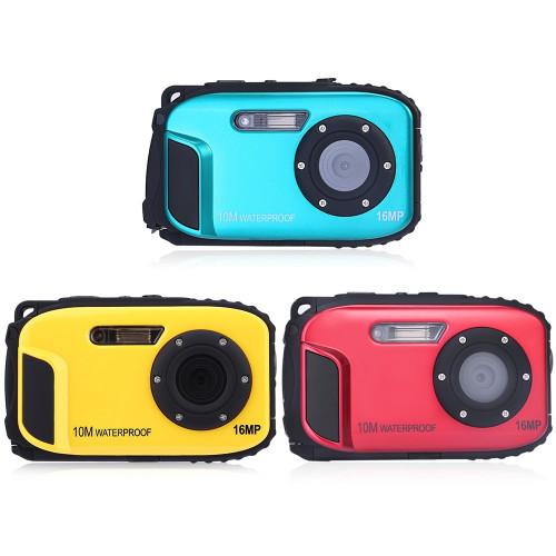 Hot New 2.7inch LCD Anti-shake Cameras 16MP Digital Camera Underwater 10m Waterproof Camera+ 8X Zoom Video Camcorde