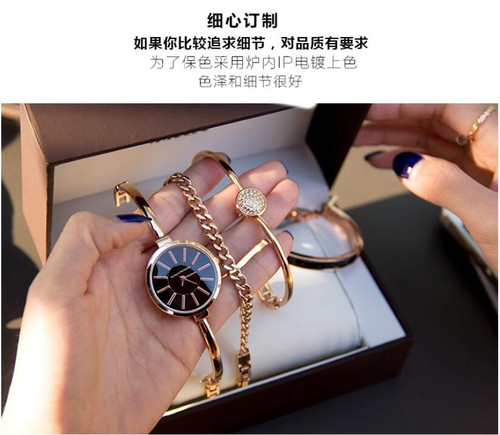 Women Rhinestone Watch  Luxury brand set Crystal Ceramic Watches steel Quartz Wristwatches Lady Dress Watch relogio feminino