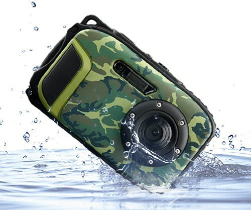 New 16MP Digital Camera With 10m Waterproof +8X digital Zoom + 2.7 inch Screen free shipping
