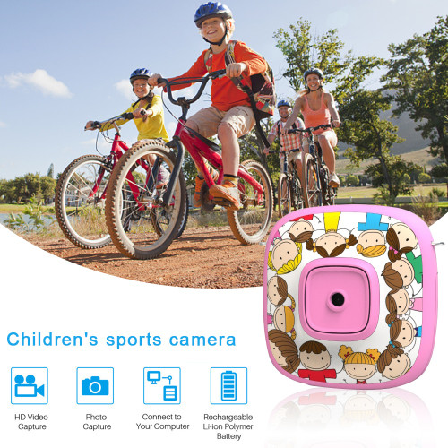 Kids Digital Camera Zoom Dual-Lens Video Camera Dual Selfie Camera 1080P HD Video Recorder Camera Camcorder LCD Screen
