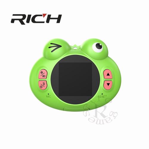 RICH Children Digital Camera Cartoon Kids Mini Green, Blue Video Recorder Toy 1.54 inch IPS Screen K5