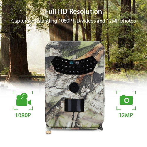LBKAFA Night Vision Trail Camera 12MP 1080P Outdoor Surveillance Wildlife Cameras Trap Digital Camera For Game Hunting Wildlife