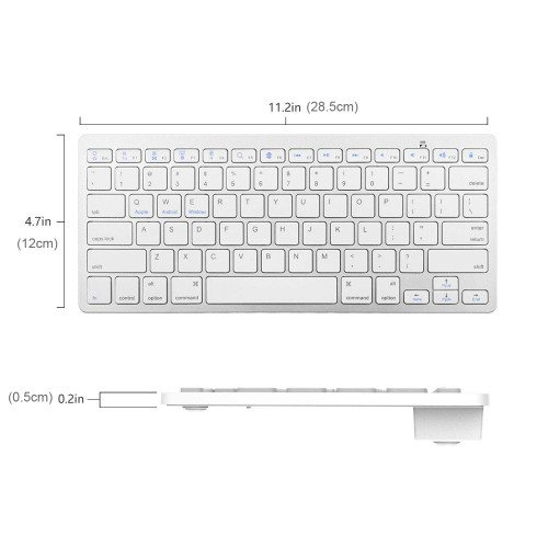 Multi-Lingual Universal Wireless Bluetooth Keyboard Ultra Slim Compatible for Apple iOS iPad Android Tablets Windows Mac OS