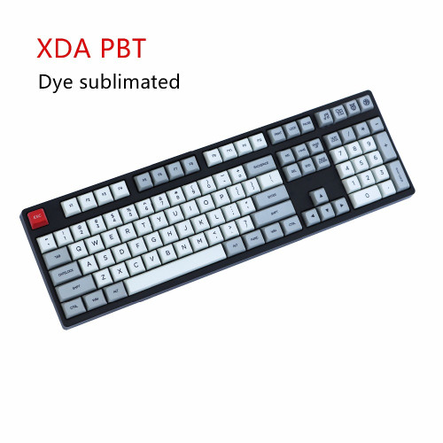 XDA keycap 139keys Dye-sub Similar to DSA For MX Mechanical Keyboard Ergo Filco Leopold Noppoo Planck