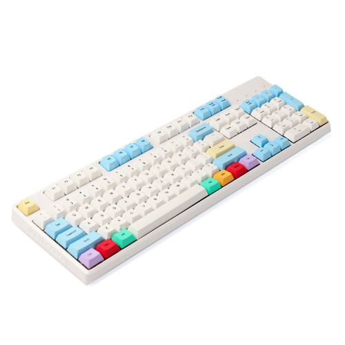 YMDK Cherry Profile ANSI 104 Dye Sub Blank Thick PBT Chalk Keyset Keycap For Cherry MX Switches Mechanical Keyboard