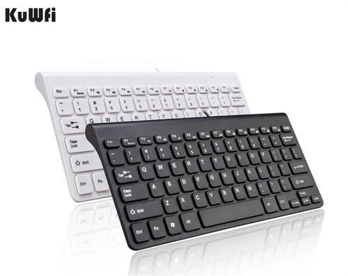 KuWFi New Keyboard Ultra thin Quiet Small Size 78 Keys Mini Multimedia USB Keyboard For Laptop PC Macbook