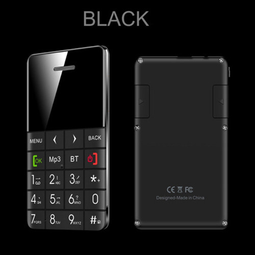 AEKU Qmart Q5 2G GSM Card Mobile Phone 5.5mm Ultra Thin Pocket Mini Slim Card Phone 0.96 inch QWERTY Keyboard Card Cell phone