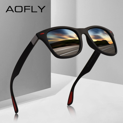 AOFLY BRAND DESIGN Classic Polarized Sunglasses Men Women Driving Square Frame Sun Glasses Male Goggle UV400 Gafas De Sol AF8083 (