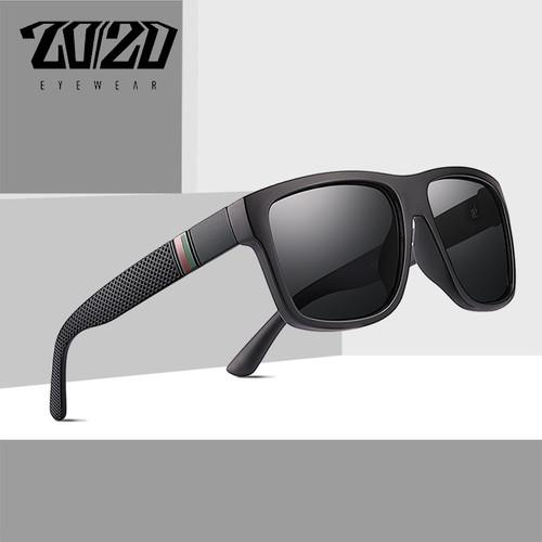 20/20 Brand Design Retro Polarized Sunglasses Men Driving Shades Male Vintage Square Sun Glasses For Men Oculos Eyeglasses PL363