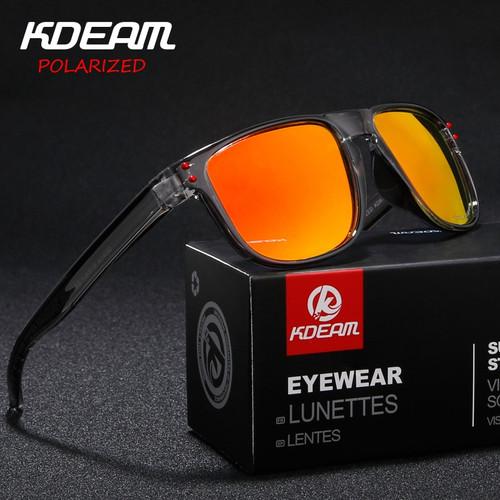 New Style Men's Sun Glasses KDEAM  Brand Polarized Sunglasses Men Classic Design Driving Mirror Sunglasses Male Eyewear