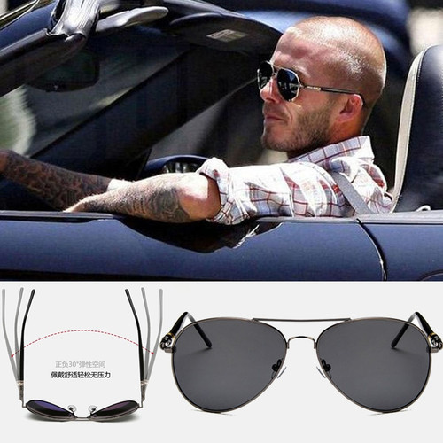 2019 Aviation Spring Leg Alloy Metal Frame Polarized Sunglasses Men Luxury Brand Design Pilot Men Sun Glasses Driving Quality