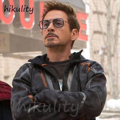 Avengers Infinity War Tony Stark Sunglasses Luxury Brand Iron Man Glasses Rectangle Vintage Superhero Sun Glasses Clear for Me