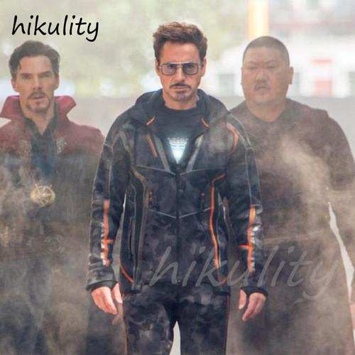 Avengers Infinity War Tony Stark Sunglasses Luxury Brand Iron Man Glasses Rectangle Vintage Superhero Sun Glasses Clear for Men
