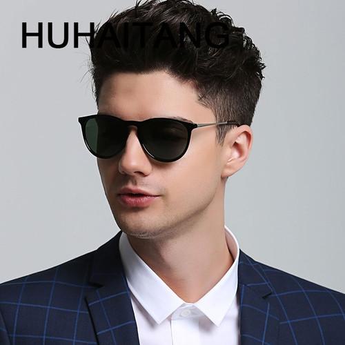 HUHAITANG luxury brand oval sunglasses men vintage cat eye sun glasses for women 2019 high quality designer eyewear