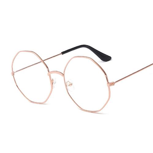 Glasses Round Spectacle Glasses Frame Sunglasses Men Women Vintage Metal Mirror Sun Glasses Female Frames Optical Transparent