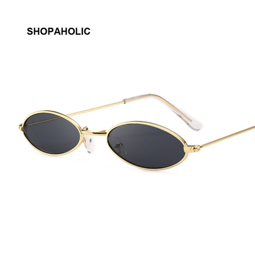 Retro Black Round Sunglasses for Women Men Small Oval Alloy Frame Summer Style Unisex Sun Glasses Female Male Goggle