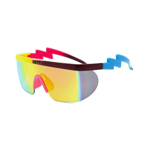Brand NEFF Sunglasses Men Vintage Women Square White Sun Glasses Clip On Sport Oversized Goggles Male Eyewear Gafas Oculos UV400