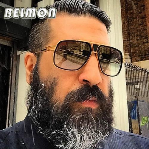 BELMON Fashion Sunglasses Men Women Luxury Brand Designer Oversized Sun Glasses For Male Ladies UV400 Photochromic RS162