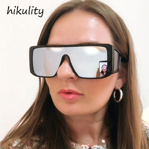 81217d Side Shield Protection Oversized Sunglasses Men Luxury Brand Vintage Reflective Large Frame Sun Glasses for Women