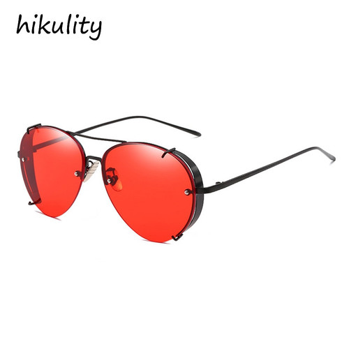 Claw Designer Vintage Sunglasses Men Luxury Brand Gothic Glasses Male Red Steampunk Pilot Sun Glasses for Women Ladies Shades