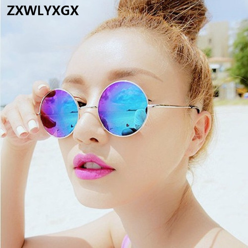 2018 Vintage Women Round Sunglasses Men's Brand Designer Sun Glasses Ladies Spectacles Oculos de Sol Feminoculo