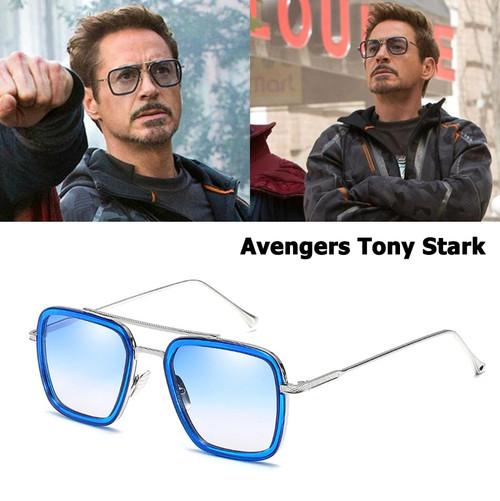 JackJad 2018 Fashion Avengers Tony Stark Flight 006 Style Sunglasses Men Square Aviation Brand Design Sun Glasses Oculos De Sol