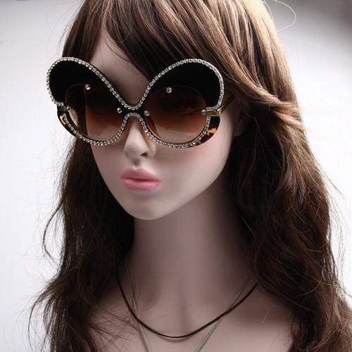 2017 sunglasses women brand designer Butterfly Big Frame Rhinestone sunglasses men sunglasses Oversize oculos de sol feminino