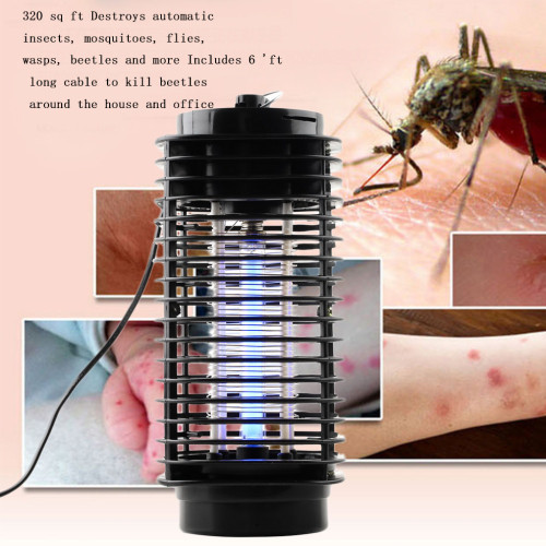 Electronics Mosquito Killer Zapper Moth Fly Wasp Trap Led Night Lamp Bug Insect Light Black Killing Pest EU US Plug 110V/220V
