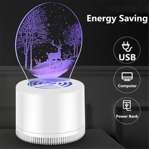 USB Electric Mosquito Killer Lamp LED Mosquito Killer Light Photocatalysis Mute Home Bug Insect Trap Radiationless Killer Light