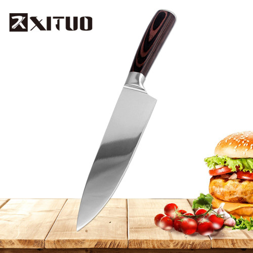 XITUO 5PCS Kitchen Knife Set Japanese Santoku Stainless Steel Kitchen Knives Chef Knife Sets Utility Paring Knives Cooking Tools