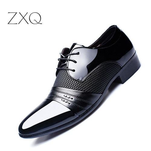 Luxury Brand Men Shoes Men's Flats Shoes Men Patent Leather Shoes Classic Oxford Shoes For Men New Fashion