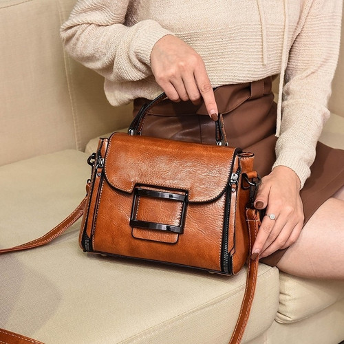 2019 Spring Real Genuine Leather Handbag Handbags Woman Small Vintage Crossbody Bags For Women Shoulder Messenger Bag Female