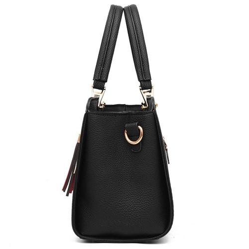 Nevenka Leather Handbag Women Luxury Handbags Top Handle Shoulder Bag for Girls Leather Corssbody Bag with Tassel Travelling Bag