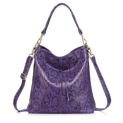 Realer brand woman handbag large shoulder bag female serpentine pattern genuine leather handbag designer women casual tote bags