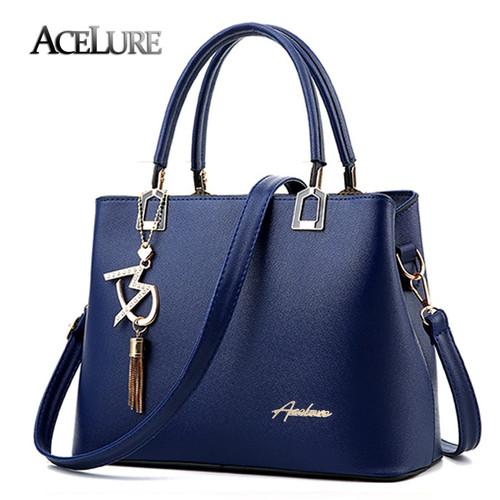 ACELURE New Designer Female Women Bag Fashion Tassel PU Leather Handbags High Quatity Ladies Shoulder Messenger Bags Casual Tote