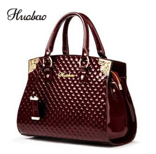 Women Genuine Patent Leather Handbags luxury Shoulder Crossbody Bag Handbag Designer Purse Satchel Messenger Bag Ladies Tote bag
