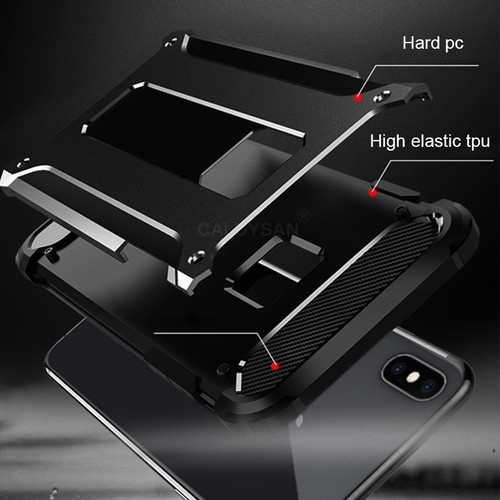 Luxury Armor Shockproof Case For IPhone 8 7 6 6s Plus X XR XS Max Phone Case For IPhone X XR XS Max 6 8 7 Silicone Soft Case