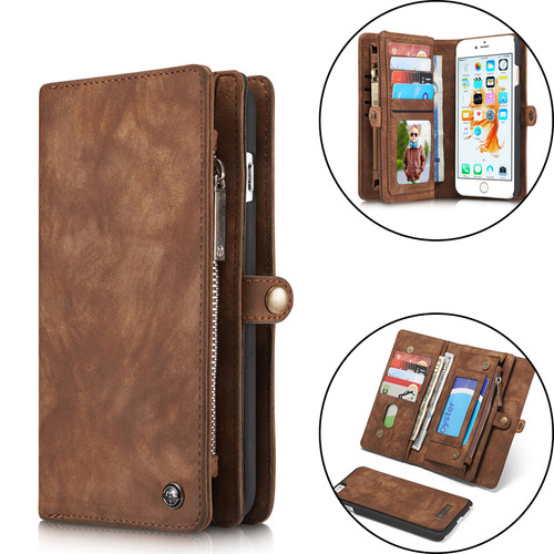 Luxury Leather Case For iPhone X XR XS Max 10 8 7 6 6s Plus Flip Case Wallet Cover Magnet Business Phone Case For iPhone 7 Plus