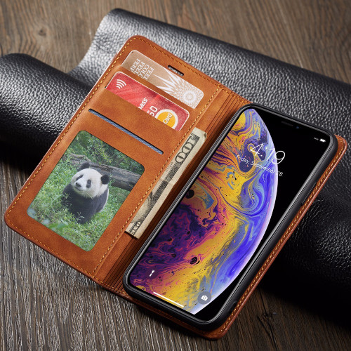 Leather Flip Wallet Phone Case For iPhone 8 7 6 6S Plus Magnetic Card Holder Wallet Cover For iPhone X XS XR XS MAX case coque