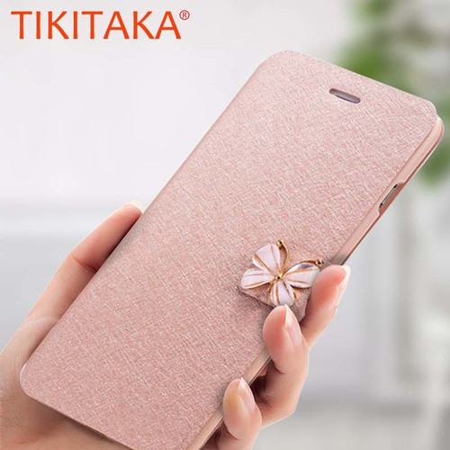 Luxury Crystal Diamond bow-knot Butterfly Leather Wallet Case For iPhone 8 7 6 6s Plus SE 5 5s SE Flip Phone Cases Slim Cover