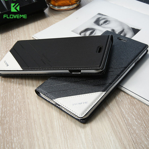 FLOVEME Card Holder Phone Case For iPhone 7 6 6s Plus Book Case For iPhone X 8 8 Plus Luxury Flip Wallet Leather Covers Capinhas