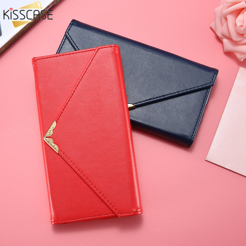 KISSCASE PU Leather Phone Case For iPhone 7 7 Plus Cases Fashion Envelope Card Slot Flip Cover For iPhone 8 8 Plus Coque Fundas