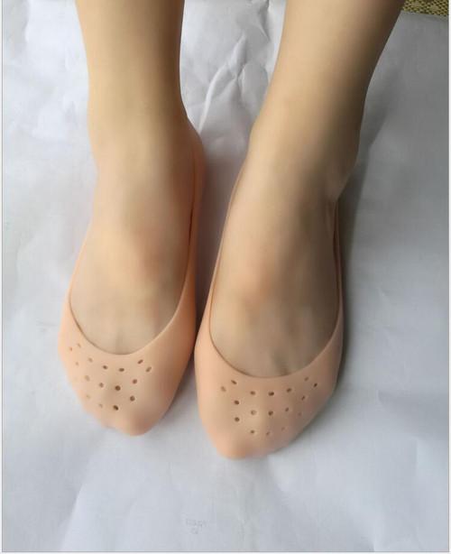 Silicone boat socks feet female male feet dry cracked moisturizing skin protection socks plantar heel anti-cracking sets of sili ( 2 PSC )