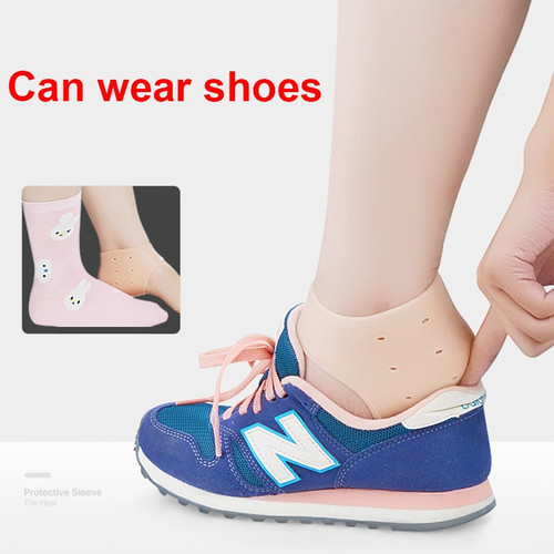 Silicone Foot Protection Sock Set Crack Cracking Anti-Crack Socks Men And Women Heel Anti-Cracking  Moisturizing Wear Foot Pain ( 2 PSC )