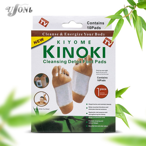 Retail box 10PCS Cleansing Detox Foot Kinoki Pads Cleanse Energize Your Body (2 PSC )